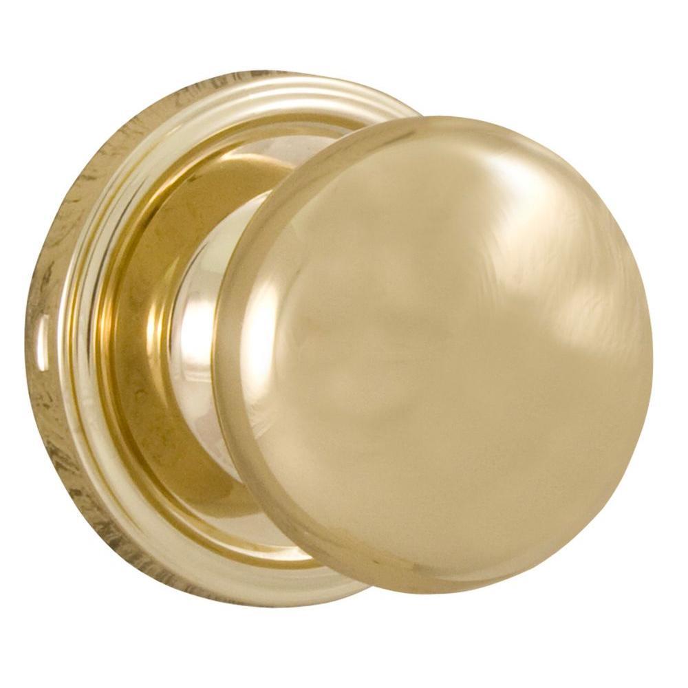 Weslock Traditionale Polished Brass Privacy Impresa Knob
