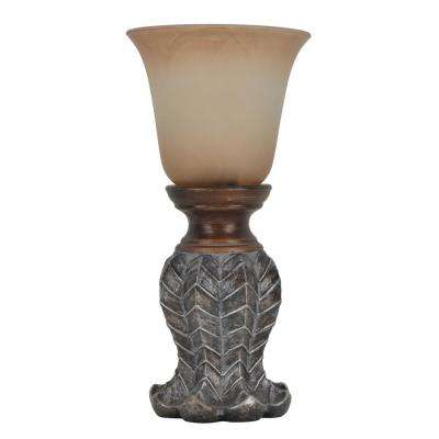Washed 12.25 in. Bronze Table Lamp with Glass Shade