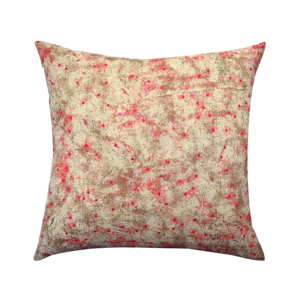 Hand-Textured Jute 20 in. Decorative Pillow