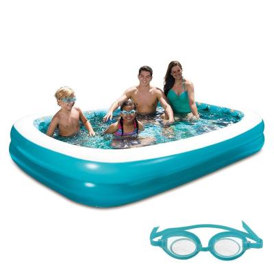103 in. x 69 in. Rectangular Family Inflatable Pool with 3D Graphics