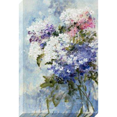 36 in. x 24 in. Lilac Bouquet Stretched Painted Canvas Wall Art