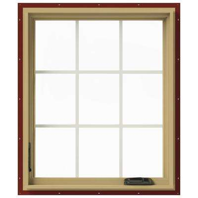 30 in. x 36 in. W-2500 Left-Hand Casement Aluminum Clad Wood Window