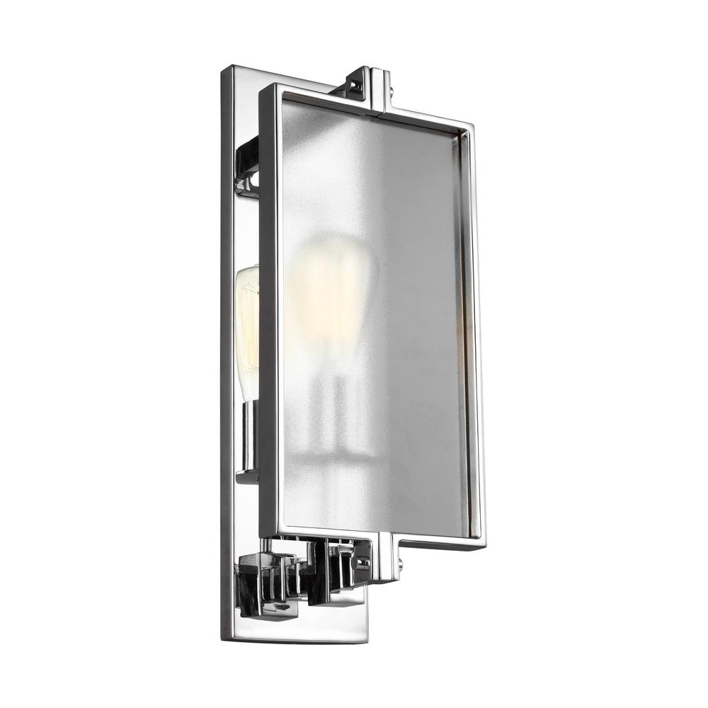 What is sconce lighting Wall Lamps Dailey 1light Chrome Wall Sconce The Home Depot Sconces Lighting The Home Depot
