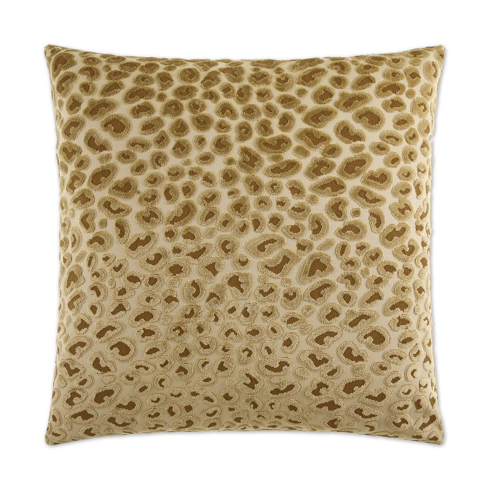Cheetah Gold Feather Down 24 in. x 24 in. Standard Decorative