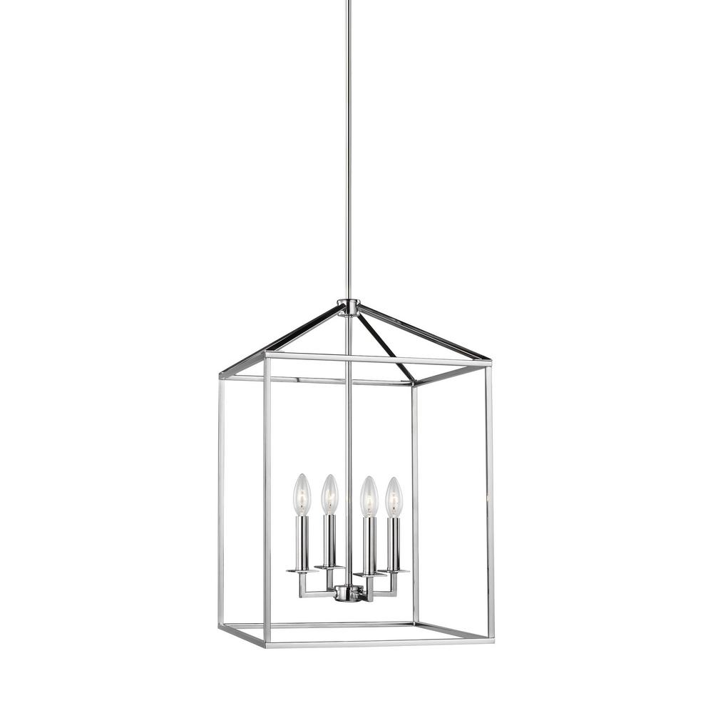 Sea Gull Lighting Perryton 4-Light Chrome Transitional Pendant was $326.9 now $196.14 (40.0% off)
