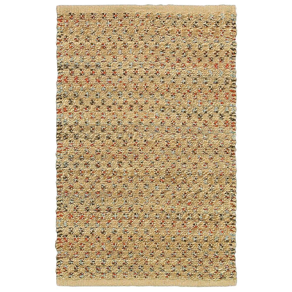 LR Resources Natural Fiber Rust 5 ft. x 7 ft. 9 in. Braided Indoor Area Rug