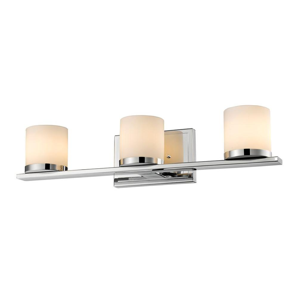 Kariya 3-Light Chrome Bath Vanity Light