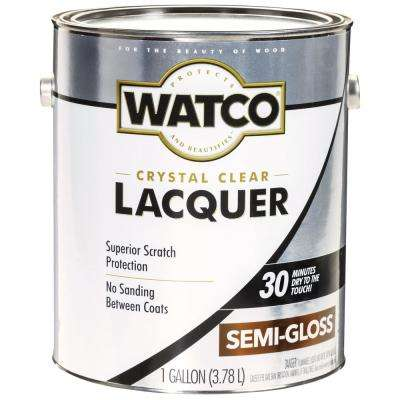 1 gal. Clear Semi-Gloss Lacquer Wood Finish (2-Pack)