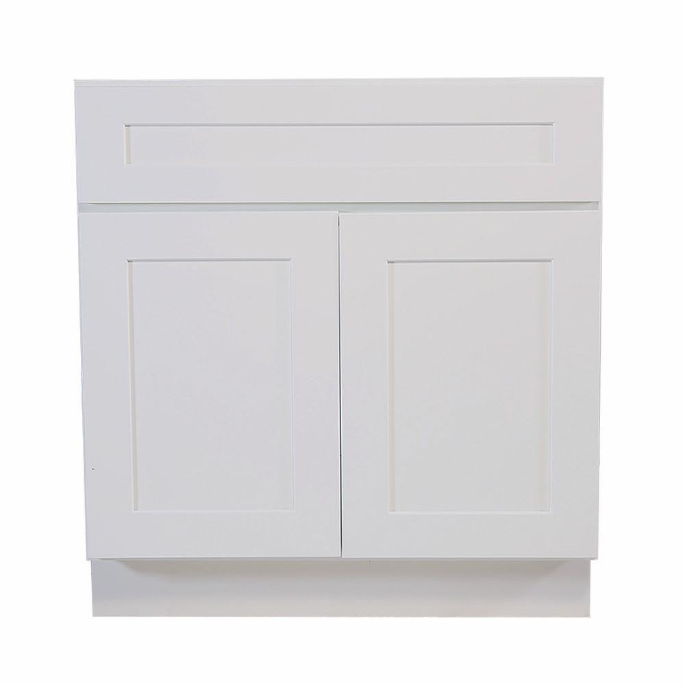 Design House Brookings Ready To Assemble 48 X 34 5 X 24 In Base Cabinet Style 2 Door Sink In White