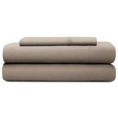 3-Piece Sandstone Tencel Twin Sheet Set