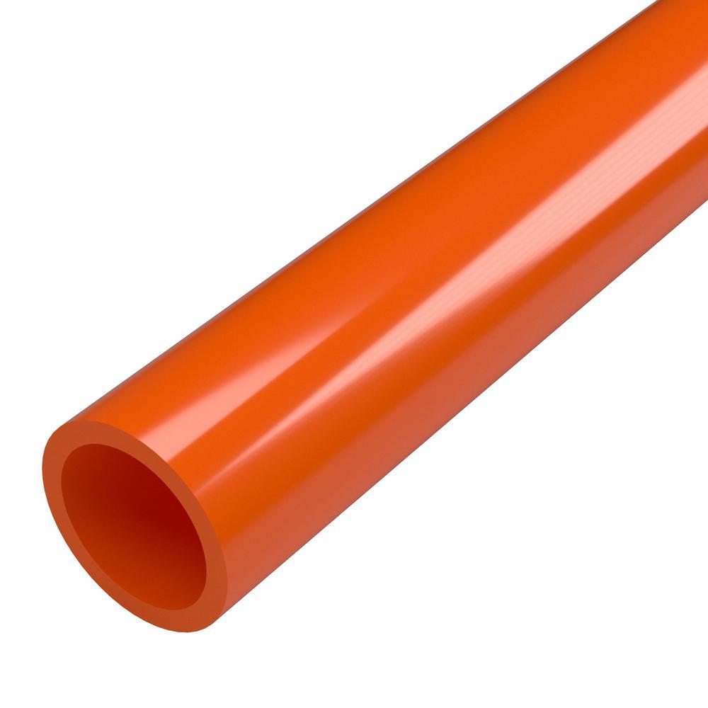 1-1/4 in. x 5 ft. Furniture Grade Sch. 40 PVC Pipe in Orange