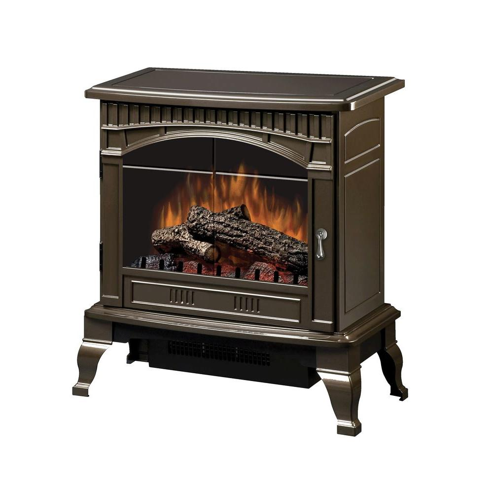 Dimplex Traditional 400 sq. ft. Electric Stove in Bronze