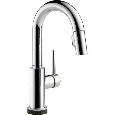 Trinsic Single-Handle Pull-Down Sprayer Bar Faucet Featuring Touch2O Technology in Chrome