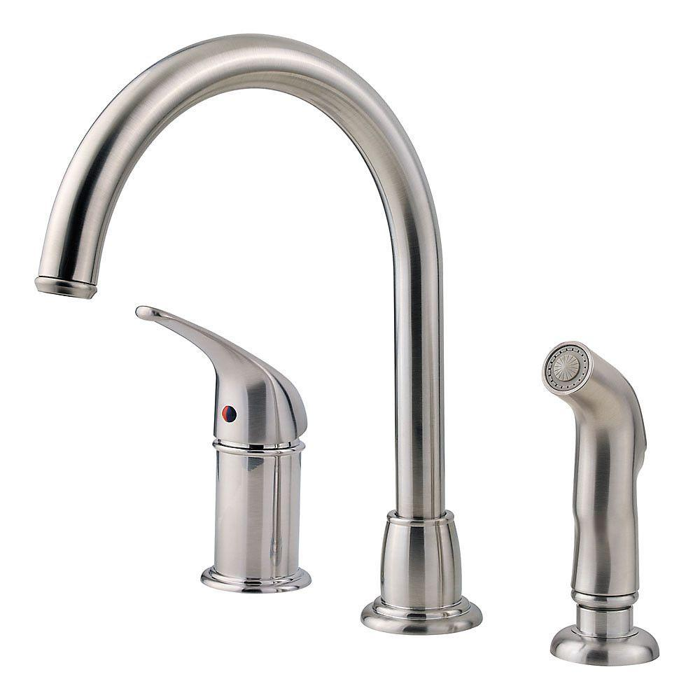 Pfister Cagney Single-Handle Standard Kitchen Faucet with Side ...
