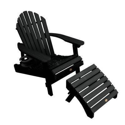Hamilton Black 3-Piece Recycled Plastic Outdoor Seating Set