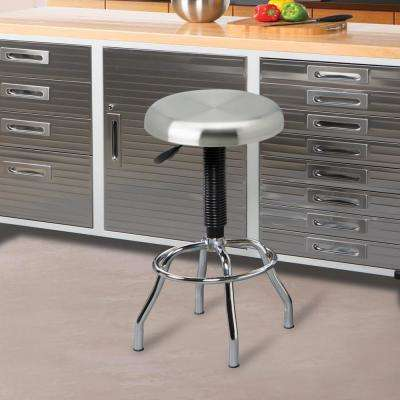 Adjustable Height Brushed Stainless Steel Bar Stool