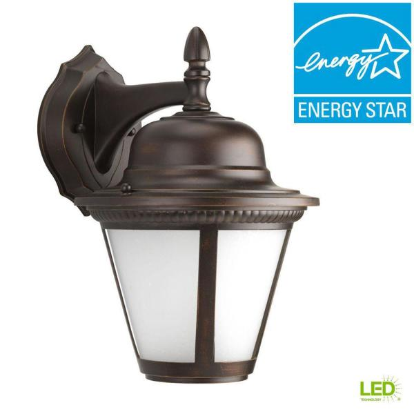 Westport Collection 1-Light 12.9 in. Outdoor Antique Bronze LED Wall Lantern Sconce