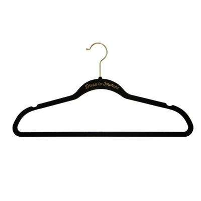 Black Dress to Impress Slim Velvet Hangers (21-Pack)