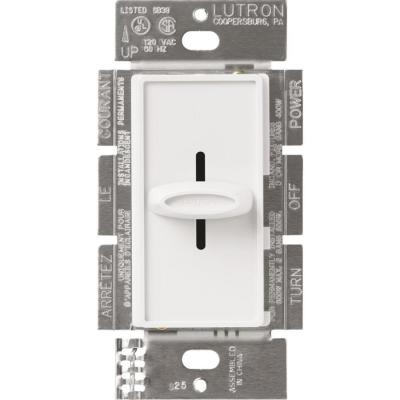 Skylark 600-Watt Single-Pole Slide-to-Off Dimmer - White