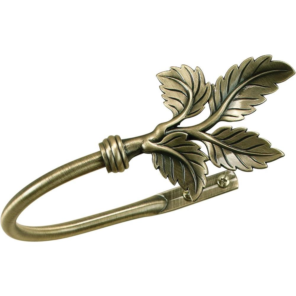 Phase II Antique Brass 3/4 in. Multi Leaf Metal Holdback-DISCONTINUED
