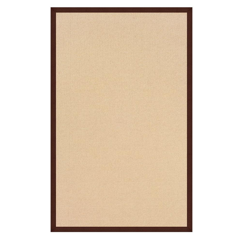 Athena Natural and Brown 5 ft. x 8 ft. Area Rug
