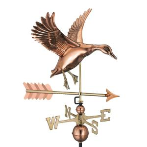 Good Directions Landing Duck with Arrow Weathervane-Pure Copper by Good Directions