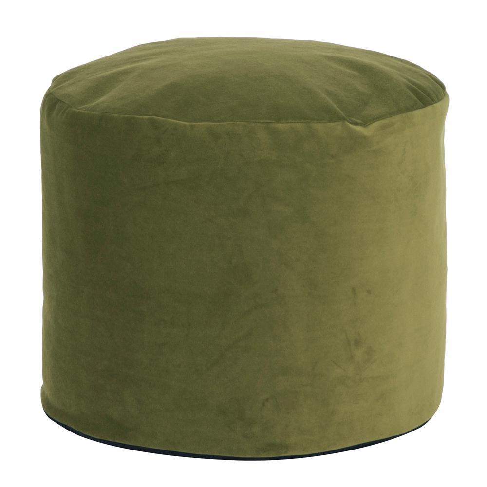 Tall Pouf Bella Moss Green Ottoman