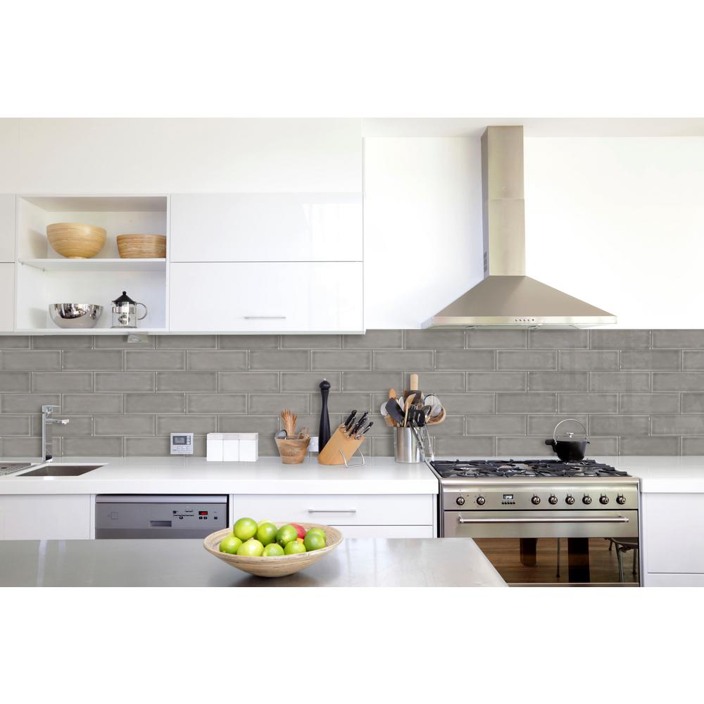 MSI Dove Gray Handcrafted 3 in. x 6 in. Glazed Ceramic Wall Tile (1 sq. ft.  / case)