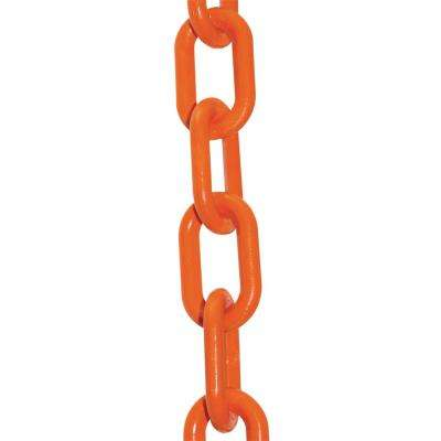 2 in. (#8, 51 mm) x 50 ft. HD Safety Orange Plastic Chain