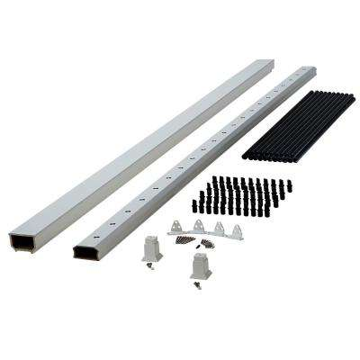 White Capped Composite Hand Rail Section With Metal