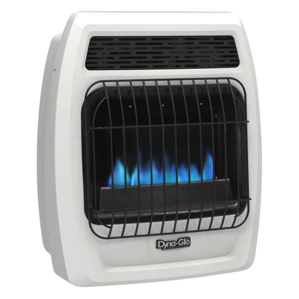 10,000 BTU Blue Flame Vent Free Liquid Propane Thermostatic Wall Heater