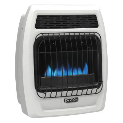10,000 BTU Blue Flame Vent Free Natural Gas Thermostatic Wall Heater