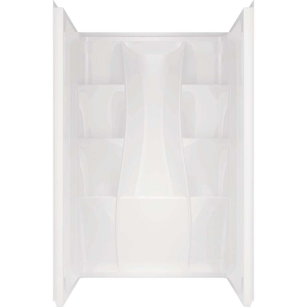 Classic 400 34 in. x 48 in. x 74 in. 3-Piece Direct-to-Stud Alcove Surround in White