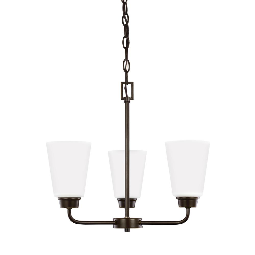 Kerrville 3-Light Heirloom Bronze Chandelier