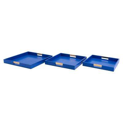 Camba Blue Trays (Set of 3)