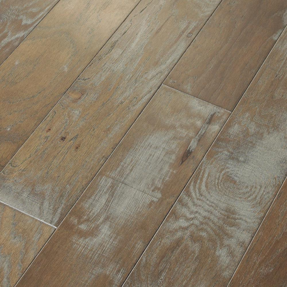 SHAW Majestic Hickory Revere Pewter 3/8 in. T x 5 in. W x Random Length Engineered Click Hardwood Flooring (31.29sq.ft./case), Medium