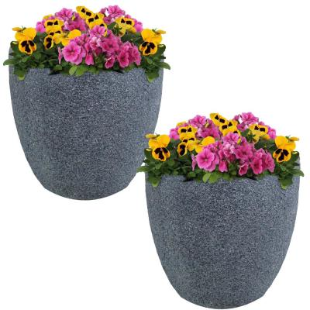 Upp Plant Tower Set of 3 Stackable Flower Pot Planter Planter Anthracite