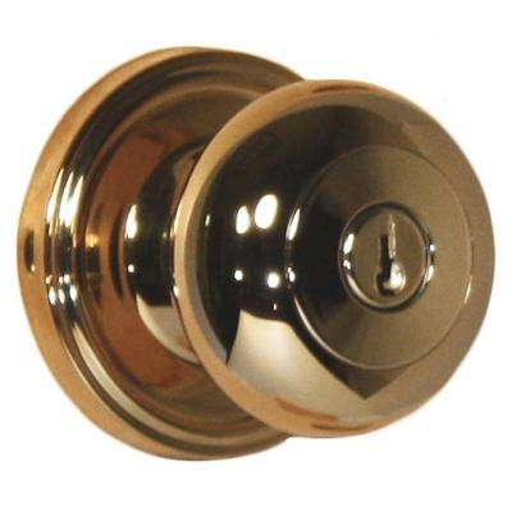 Traditionale Lifetime Polished Brass Keyed Entry Impresa Door Knob