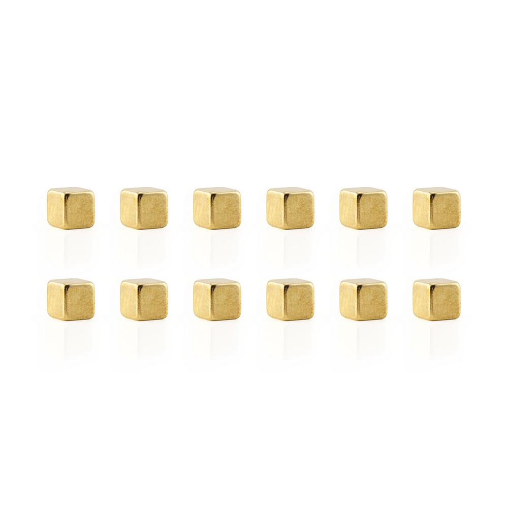 Cube Mighties Magnets, Golden (12-Pack)
