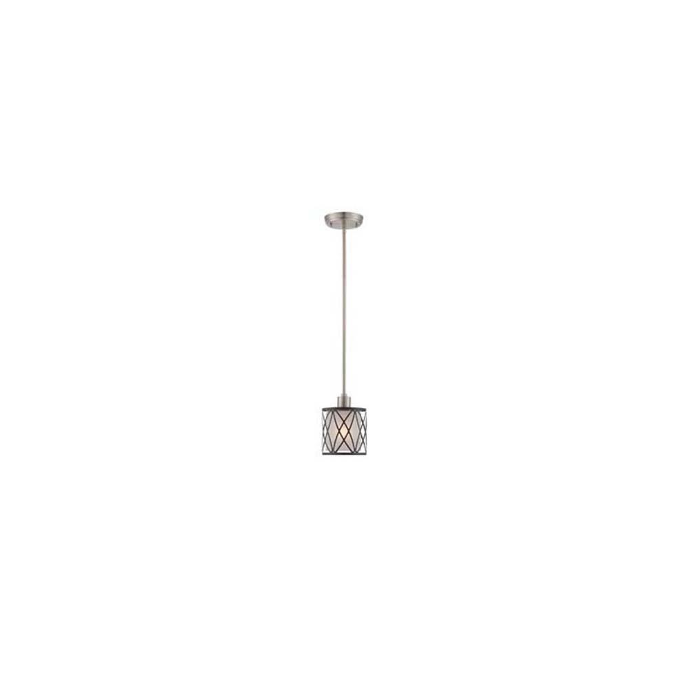1-Light Polished Steel Pendant