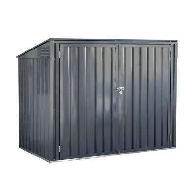 Storboss 6 ft. x 3 ft. Charcoal Galvanized Steel Horizontal Shed