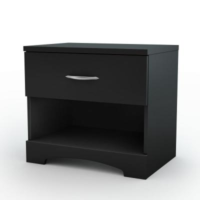 Step One 1-Drawer Nightstand in Pure Black