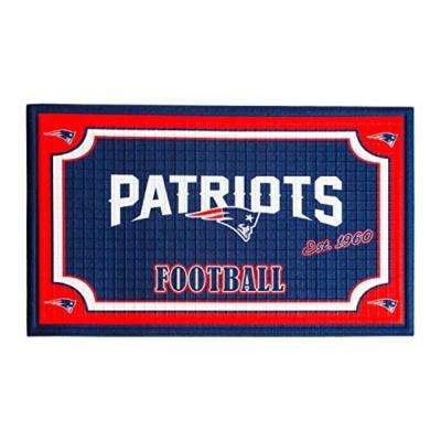 New England Patriots 18 in. x 30 in. Embossed Welcome Mat