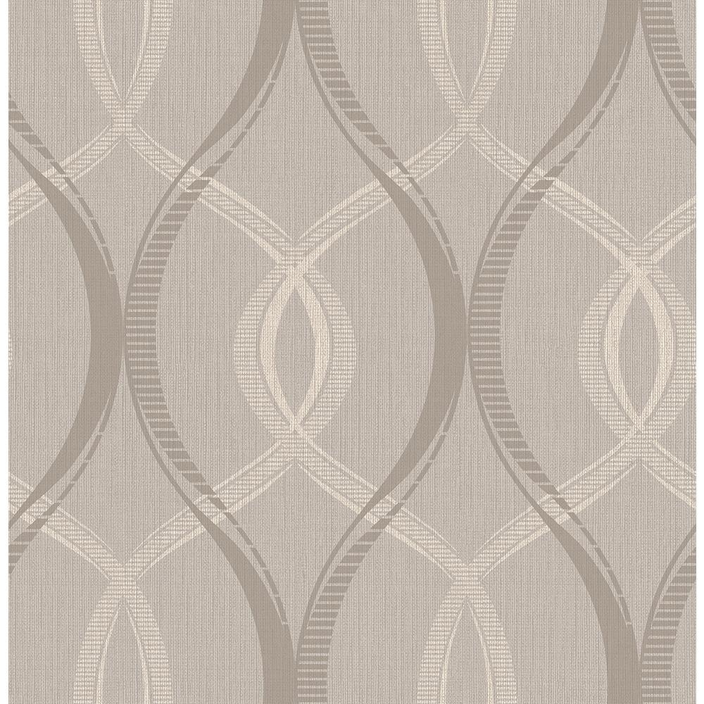 Echo Grey Lattice Wallpaper