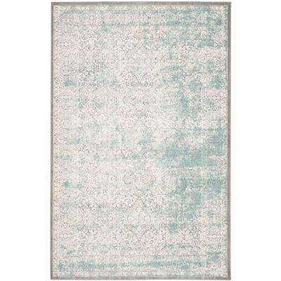 Passion Turquoise/Ivory 9 ft. x 12 ft. Area Rug