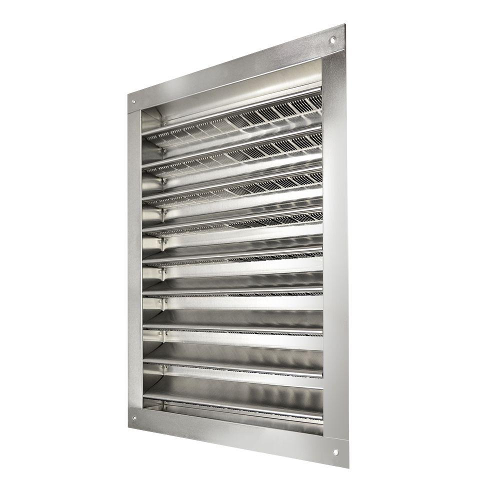 Master Flow 14 In X 24 In Aluminum Wall Louver Static