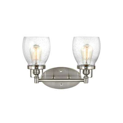 Belton 2-Light Brushed Nickel Bath Light