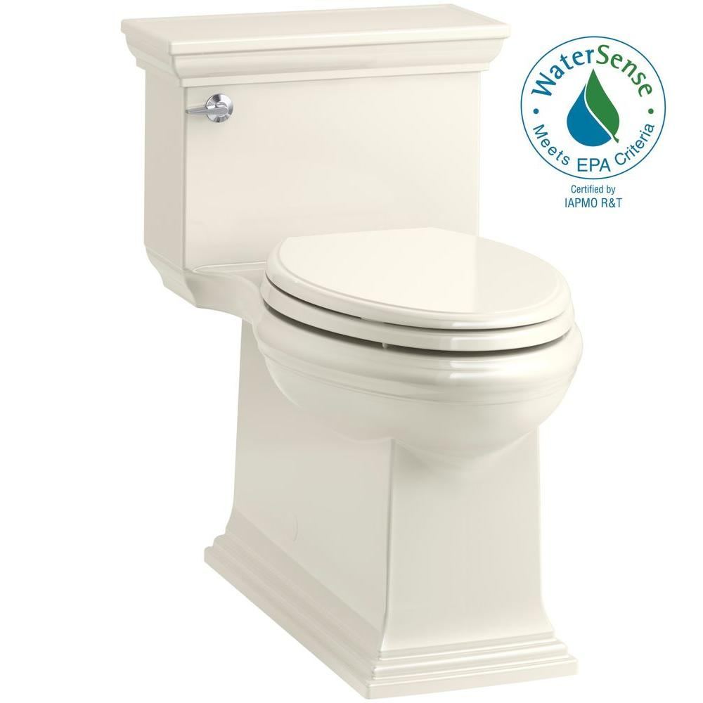 Kohler Memoirs Stately 1 Piece 28 Gpf Single Flush Elongated Toilet In Biscuit Seat