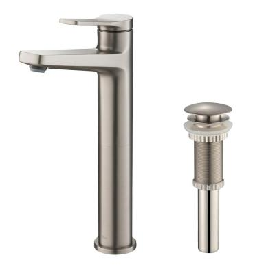 Indy Single Hole Single-Handle Bathroom Faucet in Spot Free Stainless Steel with Pop-Up Drain