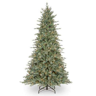 7-1/2 ft. Feel Real Buckingham Blue Spruce Hinged Tree with 650 Clear Lights